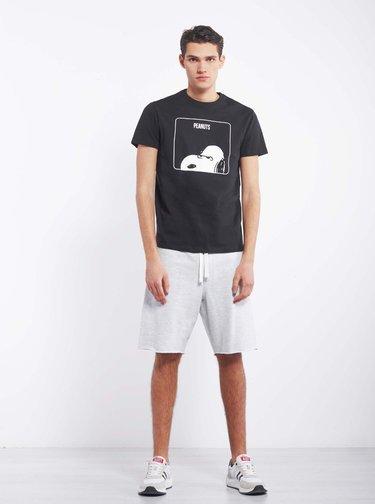 Černé pánské tričko Alcott Snoopy