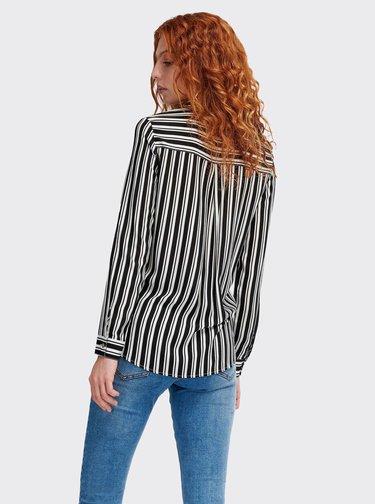 Bielo-čierna dámska pruhovaná košeľa Alcott