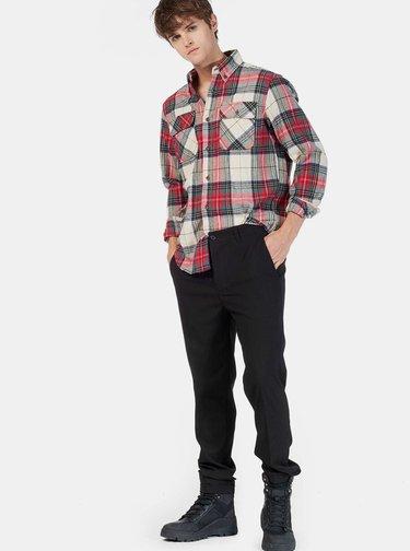 Bielo-červená pánska kockovaná košeľa Alcott