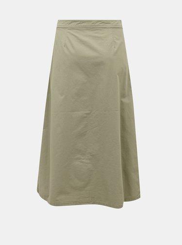 Kaki midi sukňa Jacqueline de Yong