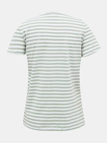 Bílo-zelené pruhované basic tričko VILA Dell