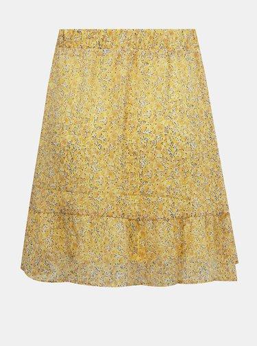 Žlutá vzorovaná sukně AWARE by VERO MODA Lucia