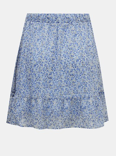 Modrá vzorovaná sukně AWARE by VERO MODA Lucia