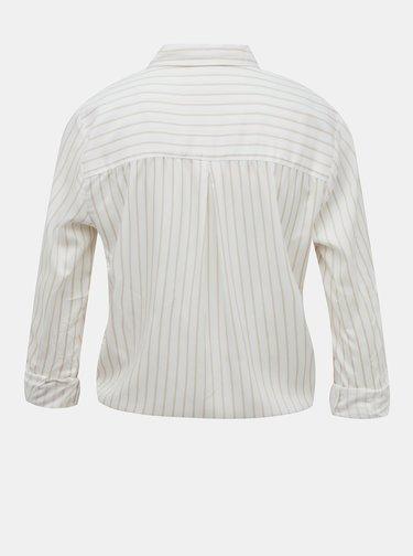 Biela pruhovaná krátka košeľa TALLY WEiJL
