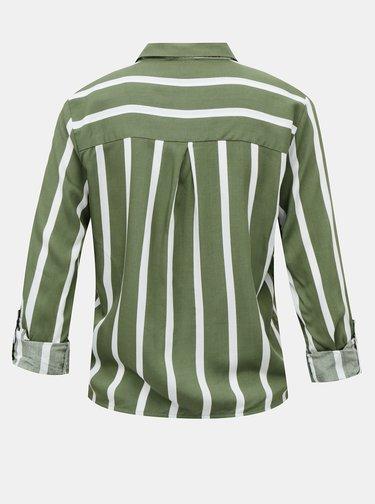 Zelená pruhovaná krátka košeľa TALLY WEiJL