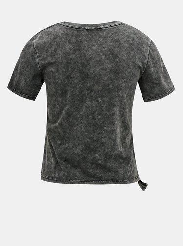 Šedé krátke tričko TALLY WEiJL