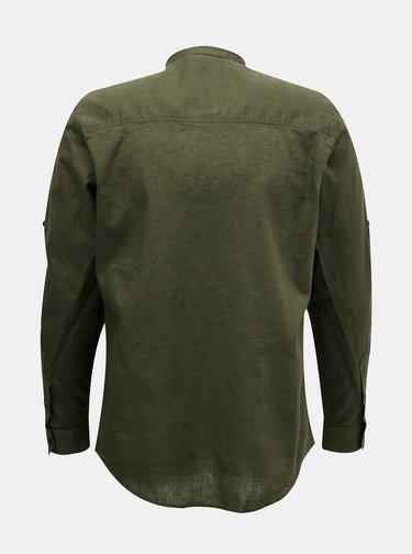 Tmavozelená pánska košeľa Alcott