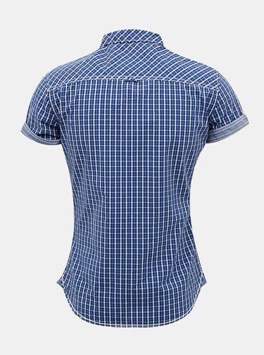 Modrá pánska kockovaná košeľa Alcott