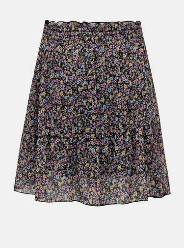 Černá květovaná sukně TALLY WEiJL
