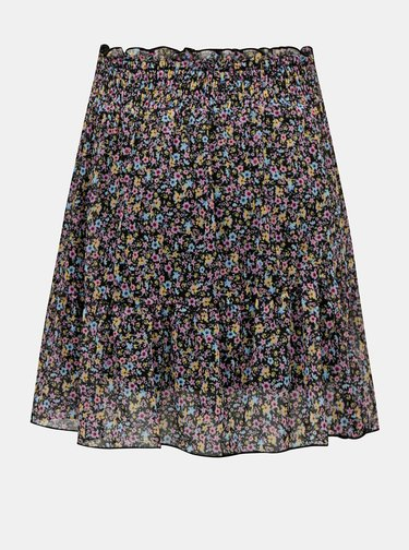 Čierna kvetovaná sukňa TALLY WEiJL