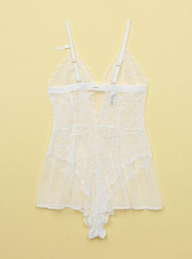 Biele krajkové body DKNY