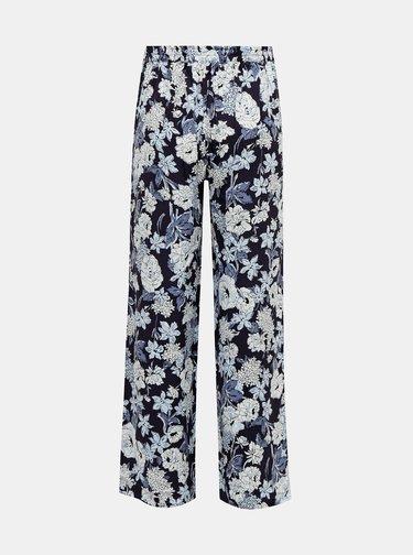 Tmavomodré kvetované nohavice ONLY Nova