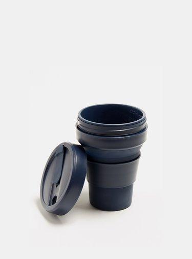 Tmavě modrý cestovní skládací hrnek Stojo Pocket 355 ml