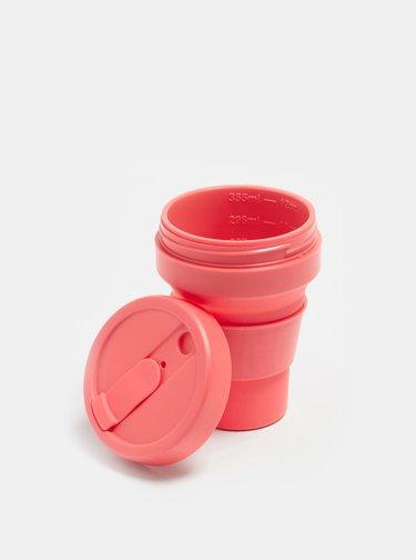 Korálový cestovní skládací hrnek Stojo Pocket 355 ml