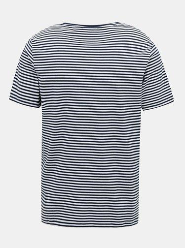 Tmavomodré pruhované tričko Selected Homme Toucan