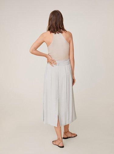 Béžová midi sukně Mango Bowie