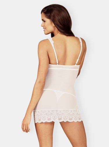 Bílá noční košilka Obsessive