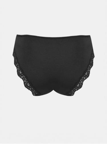 Černé kalhotky s krajkovým lemem M&Co