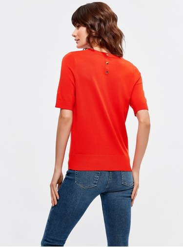 Červený svetrový top M&Co