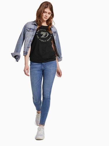 Tmavě šedé dámské tričko Tom Tailor Denim