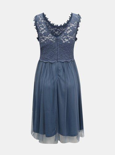 Modré krajkové šaty VILA
