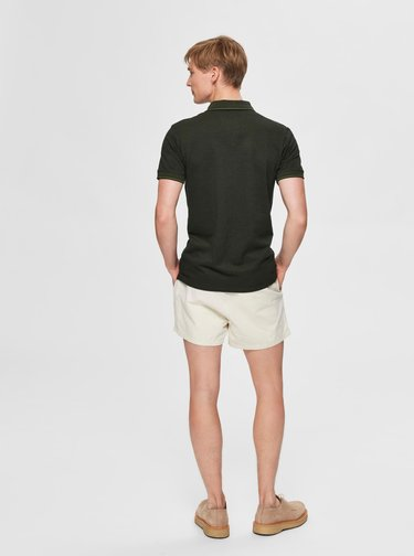Tmavě zelené polo tričko Selected Homme Twist