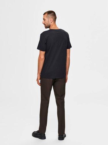 Černé tričko Selected Homme Lenox