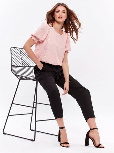 Čierne skrátené nohavice M&Co Petite