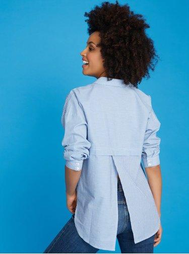 Modrá pruhovaná košeľa M&Co