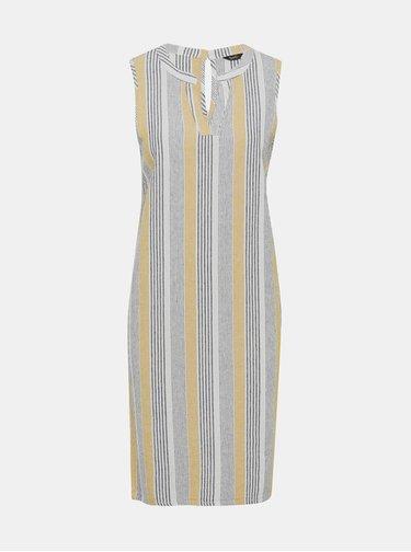 Šedé pruhované ľanové šaty M&Co
