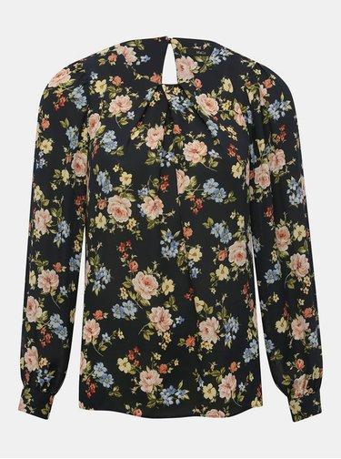 Tmavomodrá kvetovaná blúzka M&Co