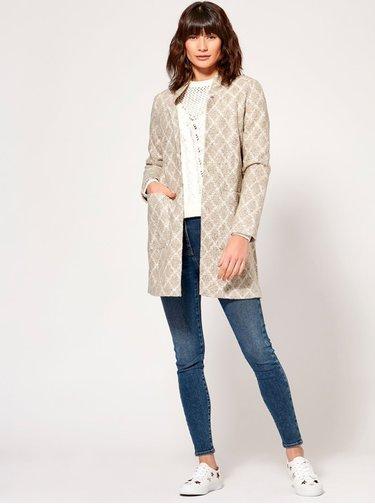 Béžový vzorovaný ľahký kabát M&Co