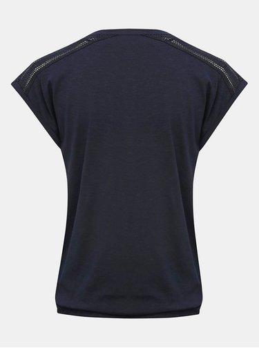 Tmavomodré basic tričko M&Co
