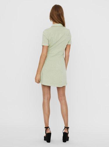 Světle zelené džínové šaty Noisy May Lisa