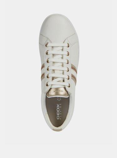 Bílé dámské kožené tenisky Geox Jaysen