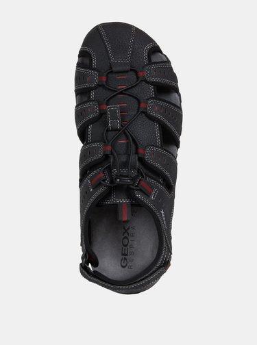 Černé pánské sandály Geox Sand.Mito