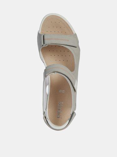 Šedé dámske sandále Geox Vega