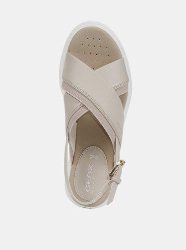 Béžové dámske sandále Geox Tamas