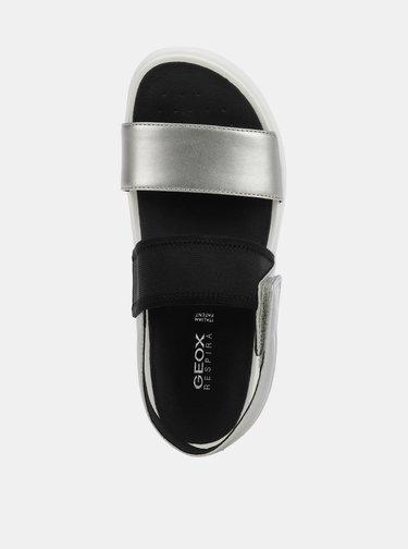 Dámské sandály v černo-stříbrné barvě Geox Ottaya