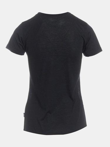 Šedo-čierne dámske vzorované tričko SAM 73