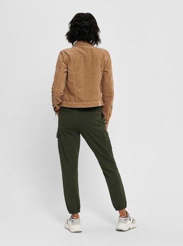 Tmavozelené nohavice s vreckami ONLY