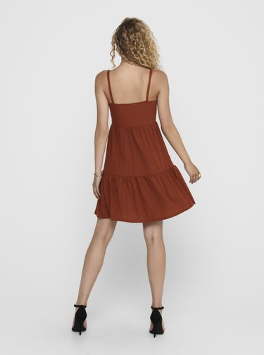 Hnědé šaty ONLY Safi