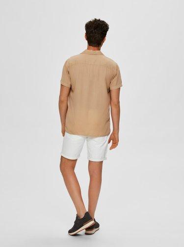 Béžová košile s příměsí lnu Selected Homme