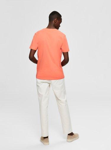 Koralové tričko Selected Homme Wayne
