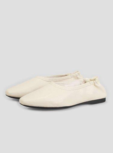 Krémové kožené baleríny Vagabond Maddie