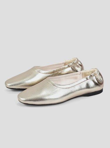 Kožené baleríny v zlatej farbe Vagabond Maddie