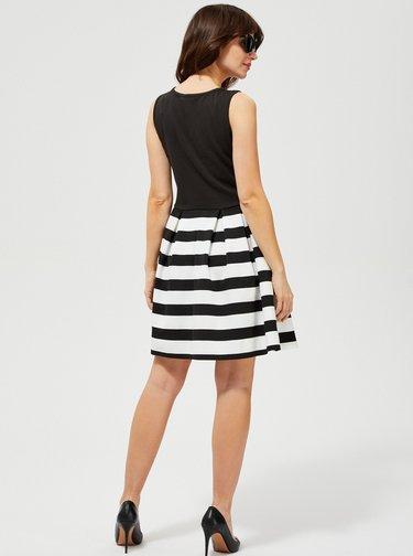 Čierne pruhované šaty Moodo