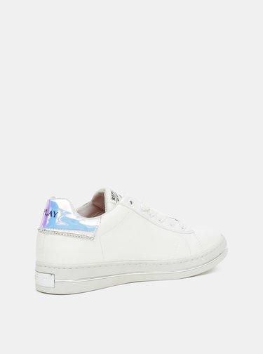 Biele dámske kožené tenisky Replay