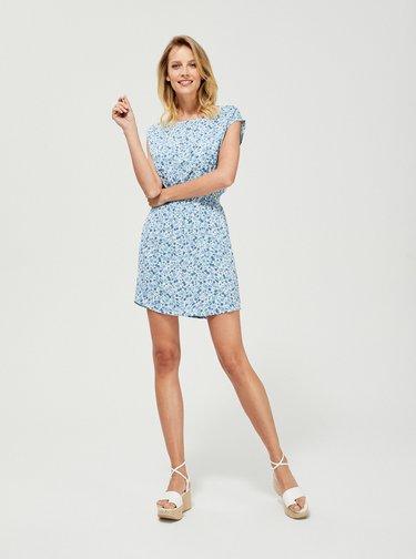 Modré květované šaty Moodo