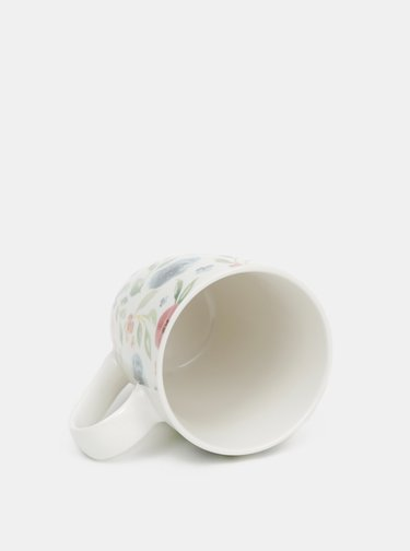 Bílý květovaný hrnek Cooksmart